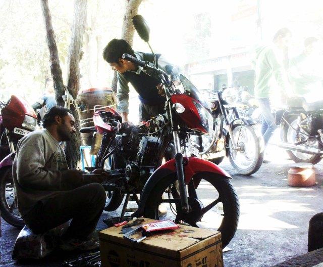 Motorcycle Engine work