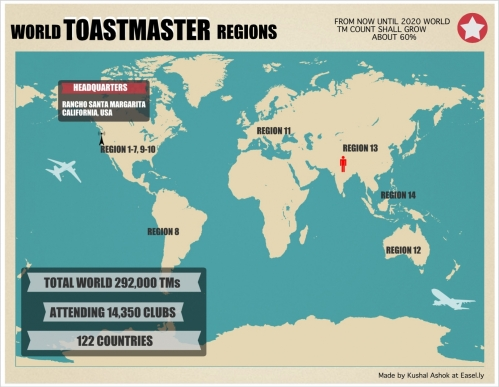 Toastmasters map